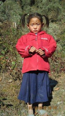 Kalpana on her journey to school...