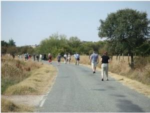 Pilgrims en route,